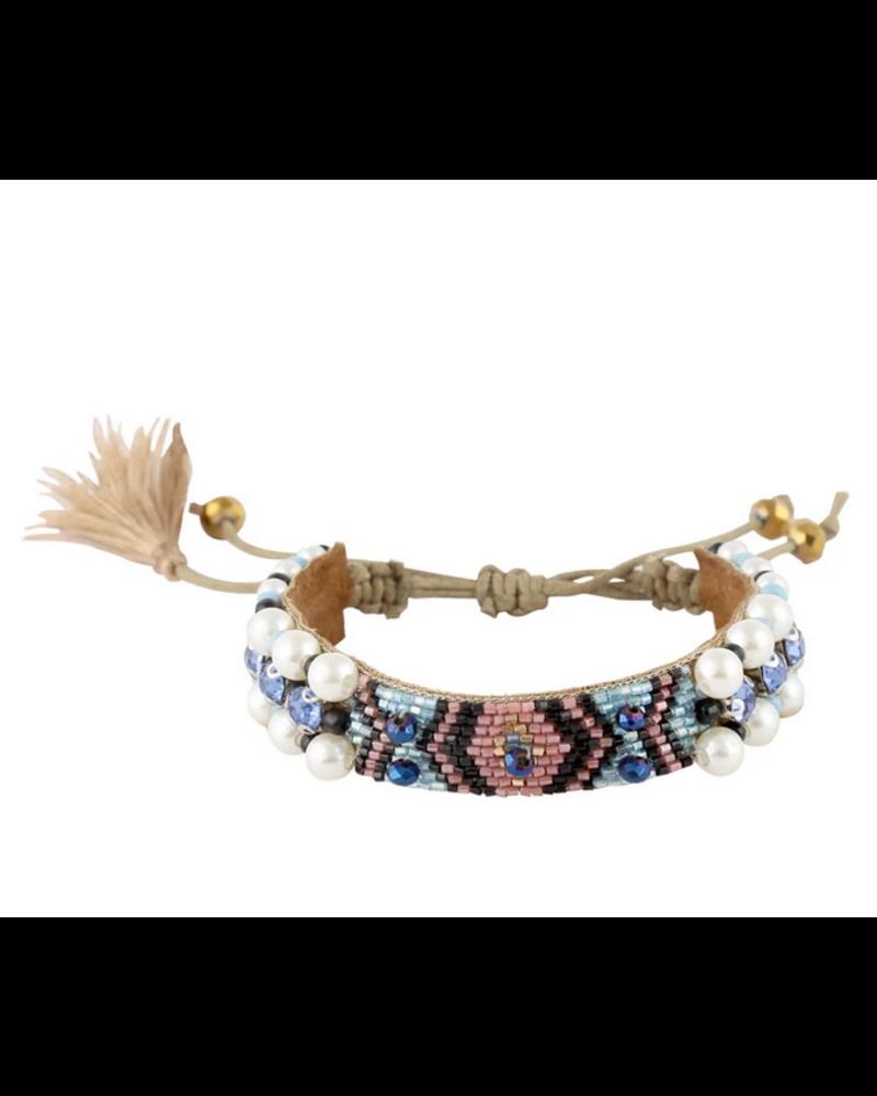 Deepa Gurnani Woven Drawstring Bracelet