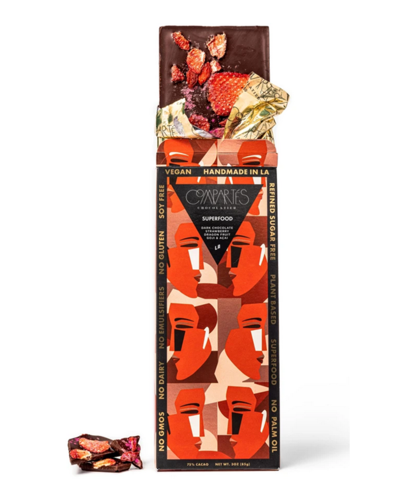 Compartes Chocolate Superfood Vegan Organic Chocolate Bar