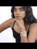 Deepa Gurnani Izna Cuff Ivory/Gold