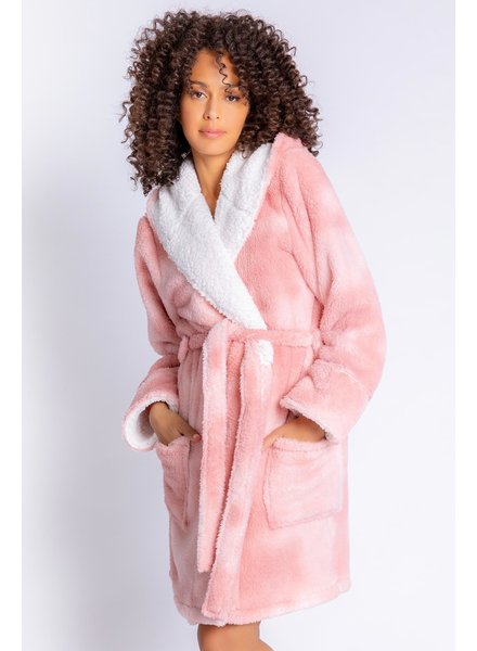 PJ Salvage Dusty Rose Cozy Robe