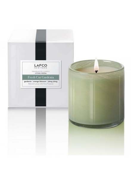 LAFCO Fresh Cut Gardenia Living Room Candle