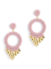 Deepa Gurnani Franka Earrings Dusty Pink