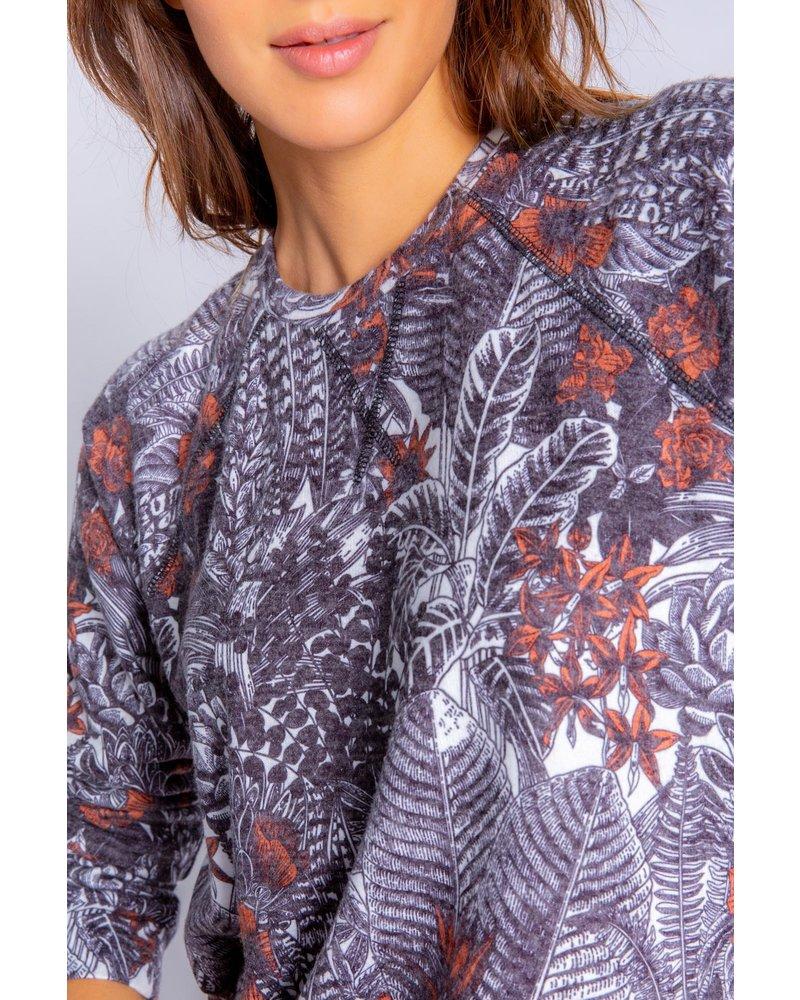 PJ Salvage Sienna Sunset Printed L/S Top