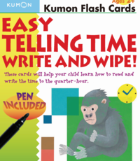 Kumon Publishing KUMON Easy Telling Time Write & Wipe