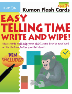 Kumon Publishing KUMON Easy Telling Time Write & Wipe