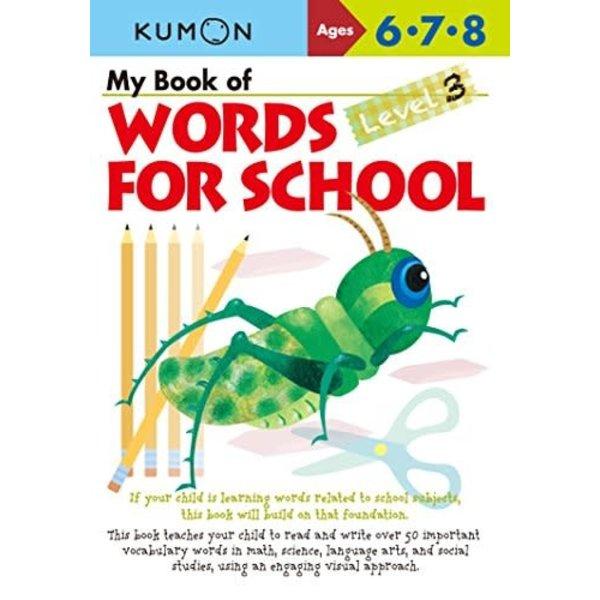 Kumon Publishing KUMON WORDS FOR SCHOOL 6.7.8 LEV.3