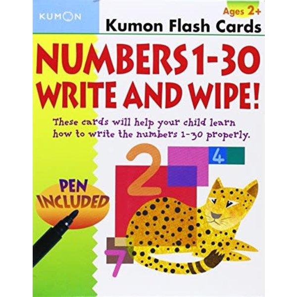 Kumon Publishing Kumon Numbers 1-30 Write & Wipe Ages 2+