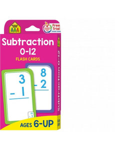 SCHOOL ZONE SUBTRACTION  FLASH CARDS