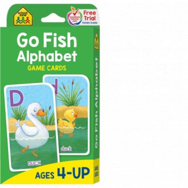 SCHOOL ZONE GO FISH ALPHABET FLASH CARDS