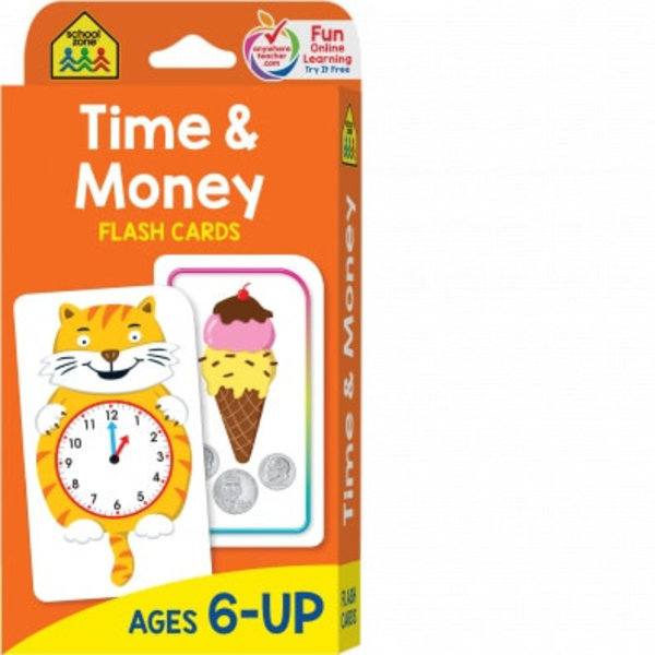 SCHOOL ZONE TIME MONEY FLASH CARDS