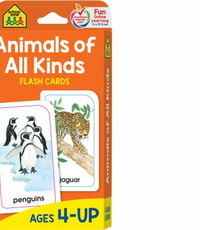 SCHOOL ZONE ANIMALS OF ALL KINDS FLASH CARDS