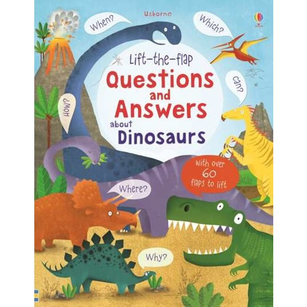 USBORNE USB LIFT THE FLAP Q A DINOSAURS