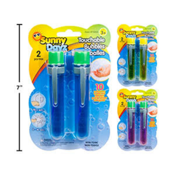 Sunny Dayz 2pk Touchable Bubbles