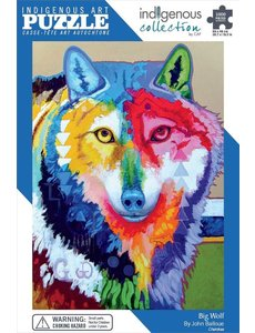 CANADIAN ART P 1000 pc BIG WOLF PUZZLE