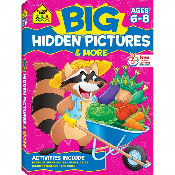 SCHOOL ZONE BIG HIDDEN PICTURES WORKBOOK