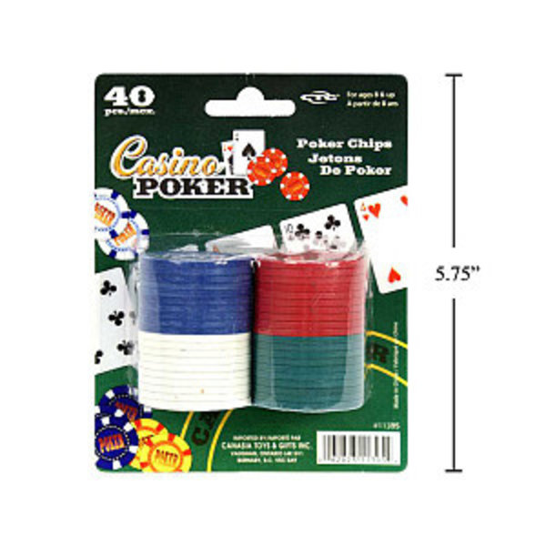 Casino Poker 40-pc Poker Chips
