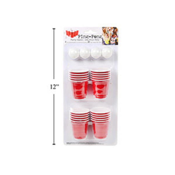 Ping Pong Party Game, 4 mini balls