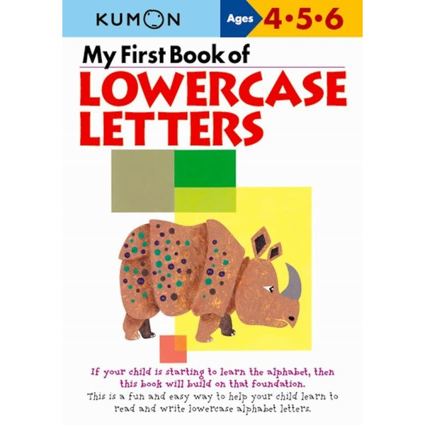 Kumon Publishing Kumon My First Book of Lowercase Letters 456