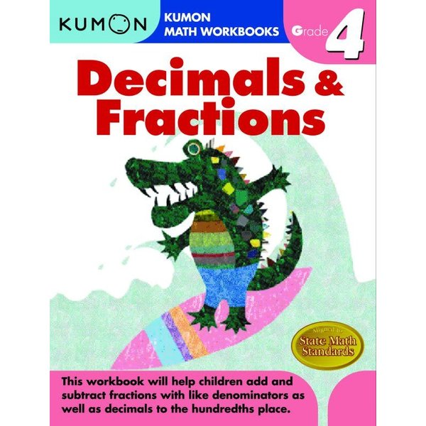 Kumon Publishing Kumon Grade 4 Decimals & Fractions