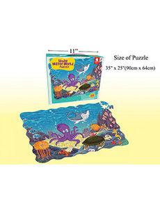 "208 Pcs Puzzle set, 35""x25"", WaterWorld"