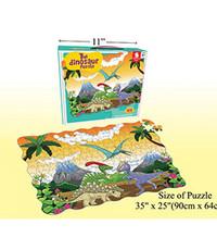 "208 Pcs Puzzle set, 35""x25"", Dinosaur"
