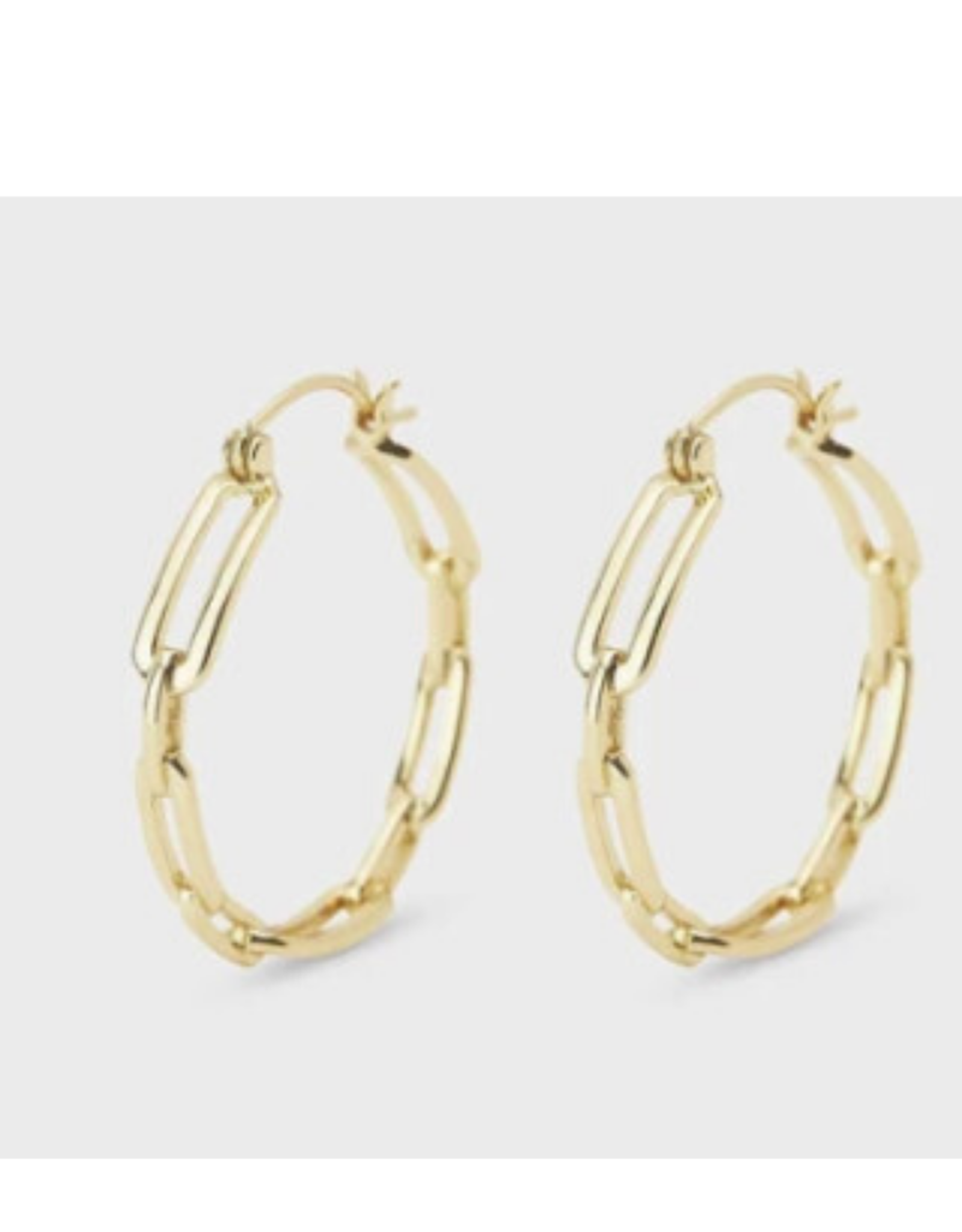 Gorjana Parker link hoop earrings