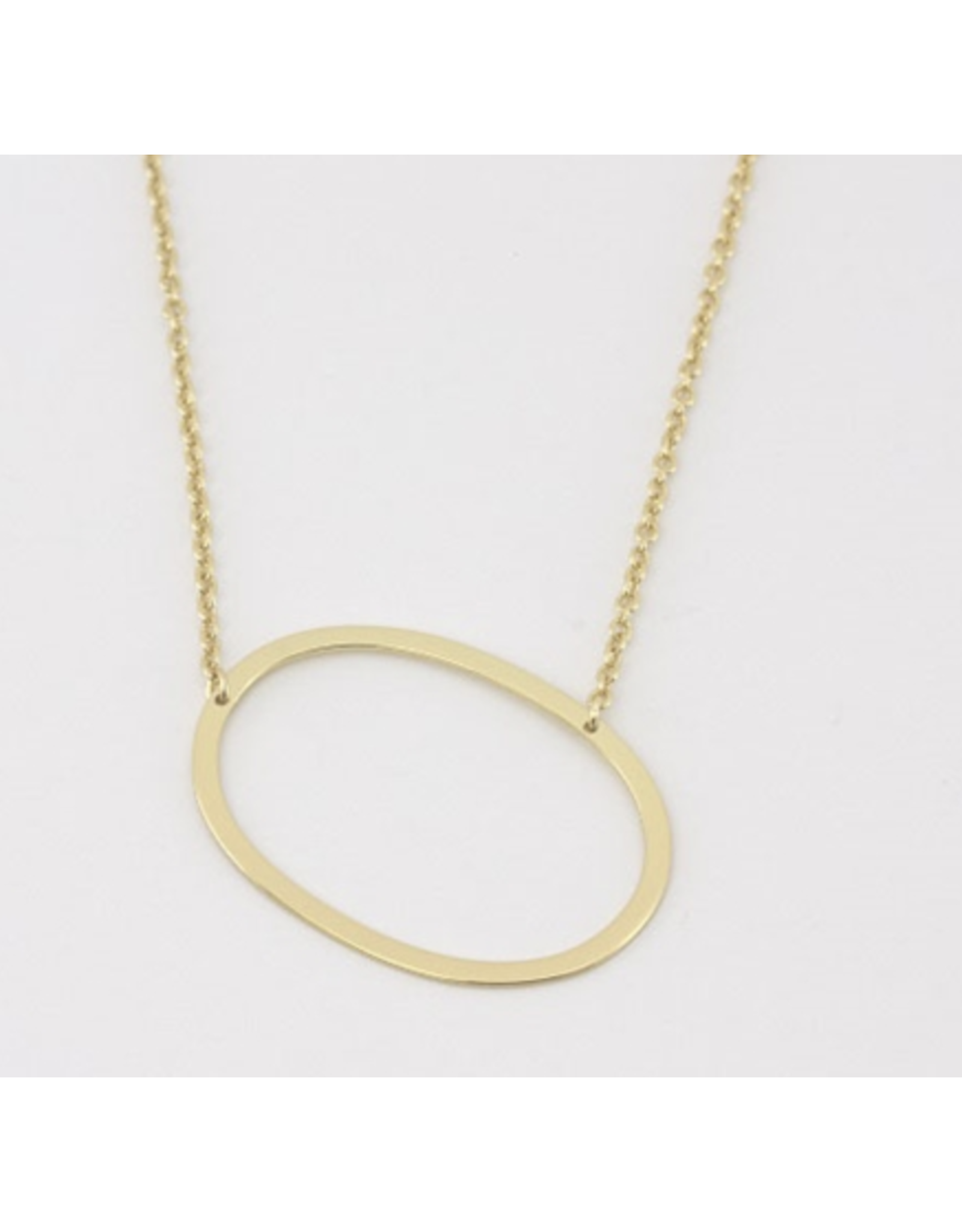 Cai Sideway Initial Necklace