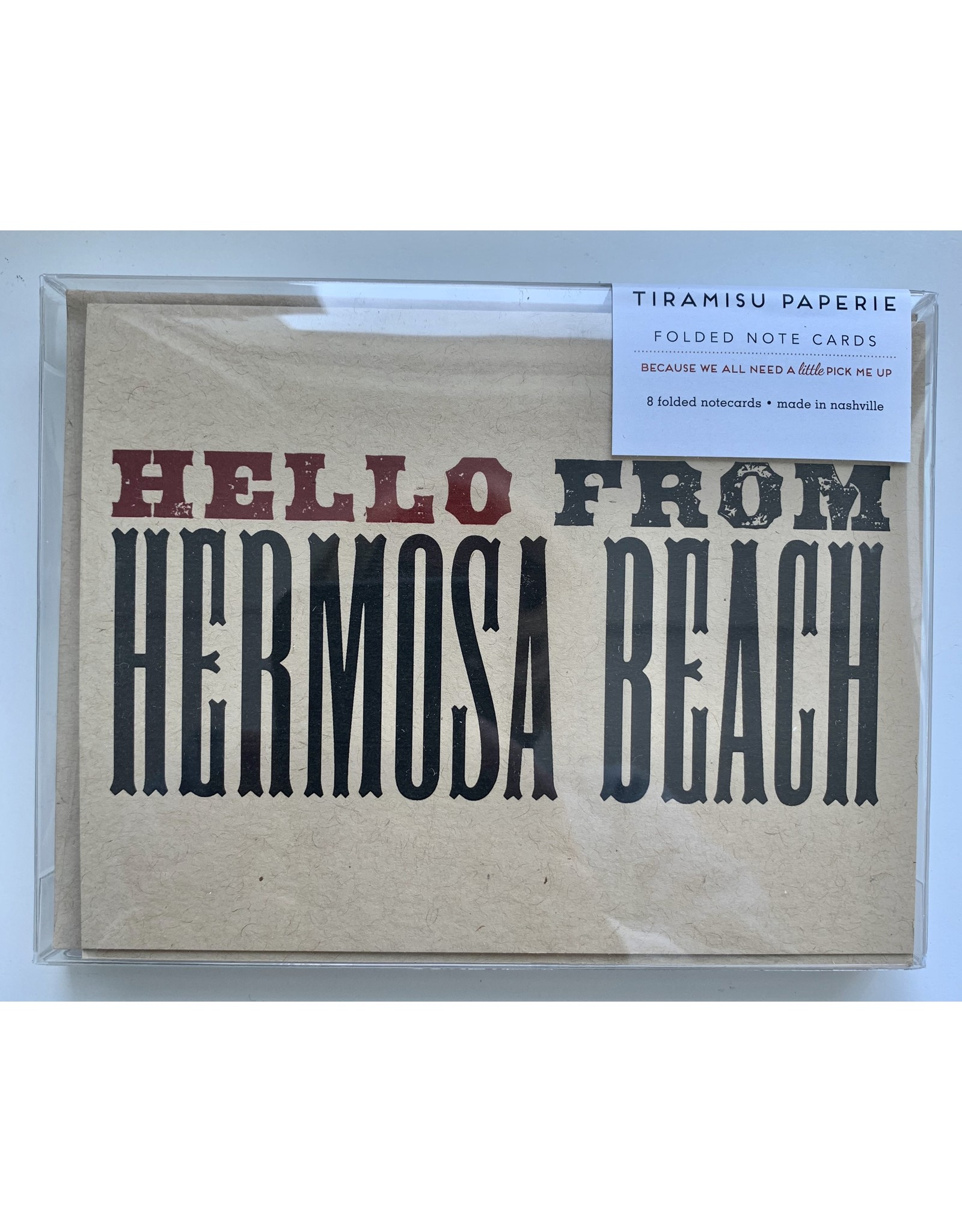 Tiramisu Hello from Hb Note Cards
