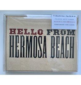 Tiramisu Hello from Hb Note Cards