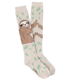 Hot Sox Sloth  -knee hi