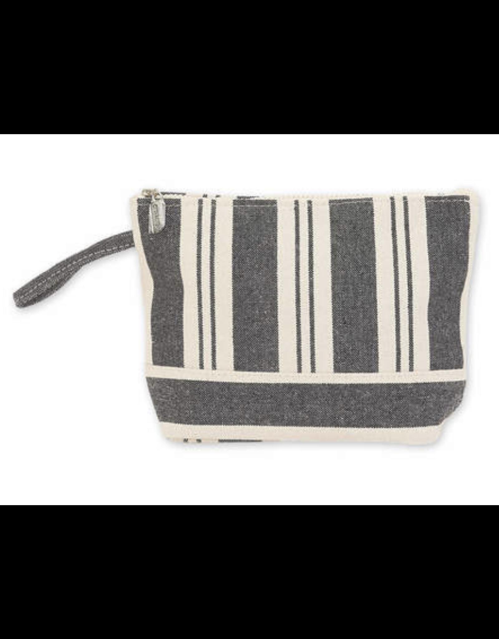 Sun & Sand Canvas Striped Pouch