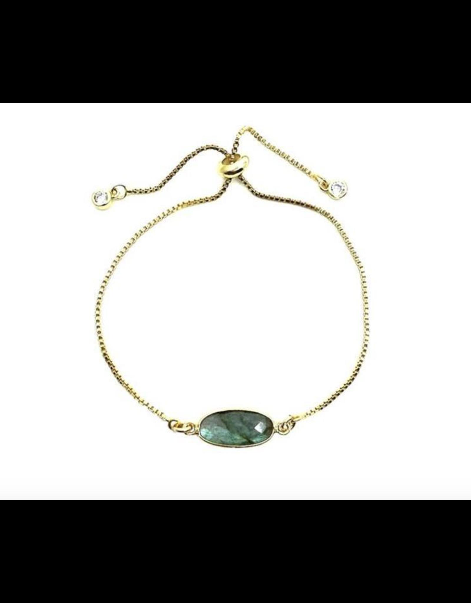 Oval Gemstone Bracelet