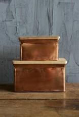 Copper Metal Boxes/Set Of 2