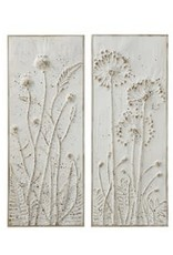 wall decor wth embossed flowers