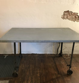 auction galvanized work or dining table