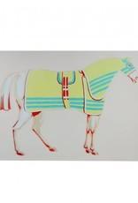 white formal horse print