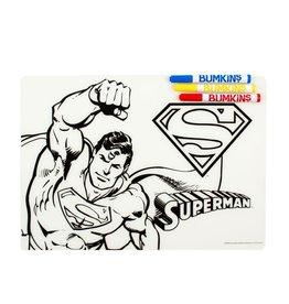 Bumkins Bumkins Silicone Colouring Placemat - Superman