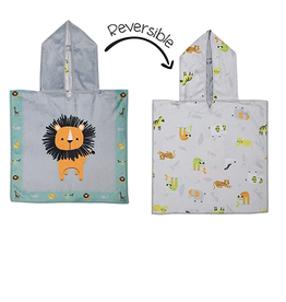 Flap Jacks Reversible Baby Cover-up - Lion 0-12