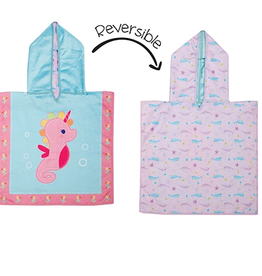Flap Jacks Reversible Baby Cover-up - Seahorse 0-12