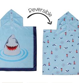 Flap Jacks Reversible Kid Cover-up - Shark