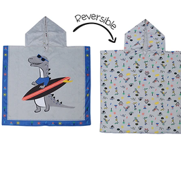 Flap Jacks Reversible Kid Cover-up - Dino