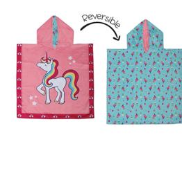 Flap Jacks Reversible Kid Cover-up - Unicorn