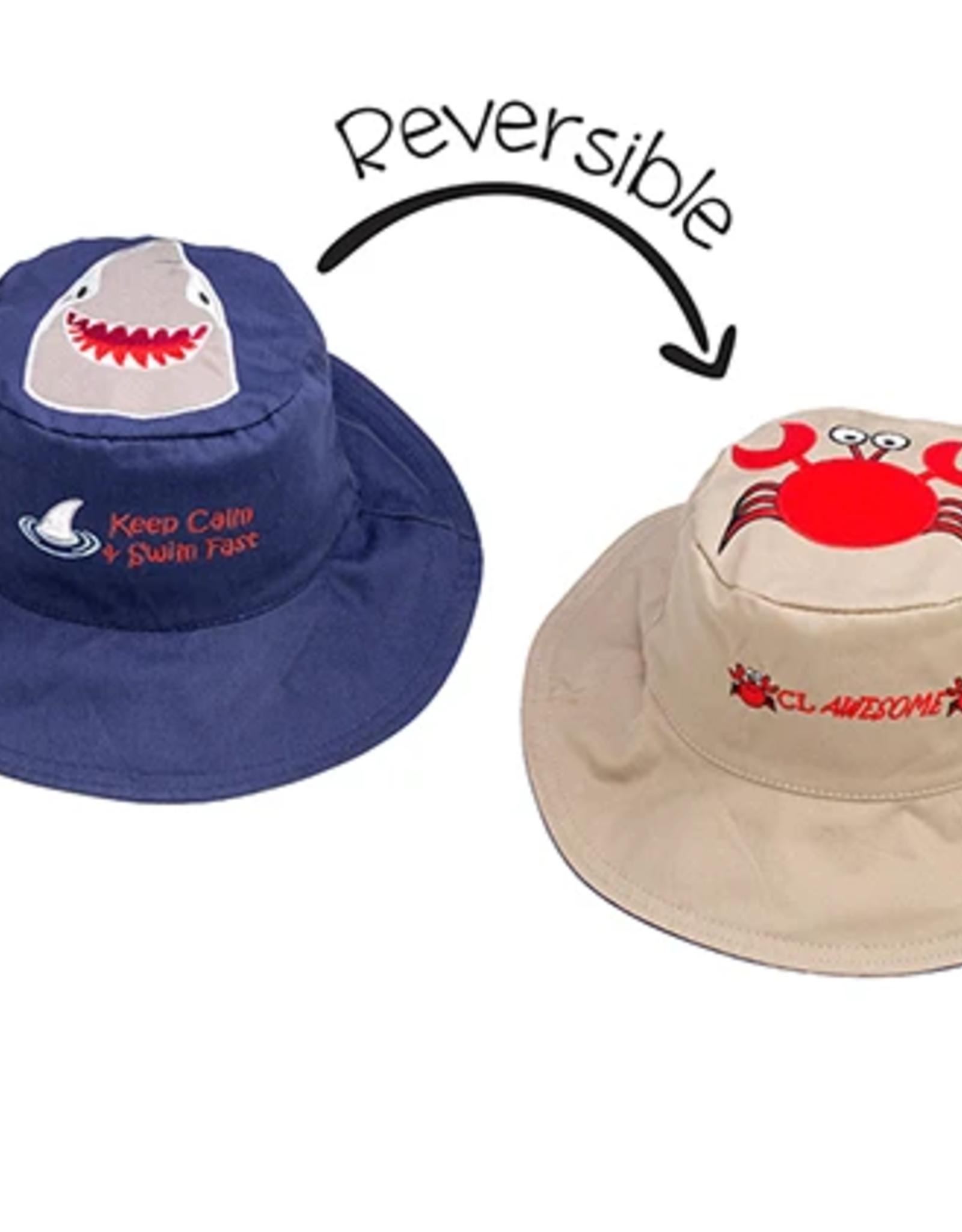 Flap Jacks Flapjacks Kids Sun Hat - Shark/Crab