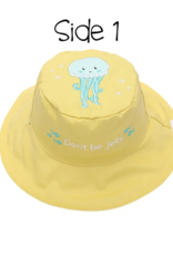 Flap Jacks Flapjacks Kids Sun Hat - Fish/Jellyfish