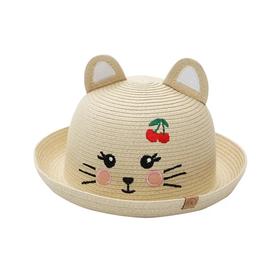 Flap Jacks FlapJackKids - Kids Straw Hat - Cat - Large