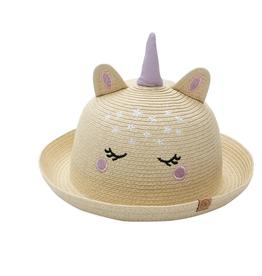 Flap Jacks FlapJackKids - Kids Straw Hat - Unicorn - Large