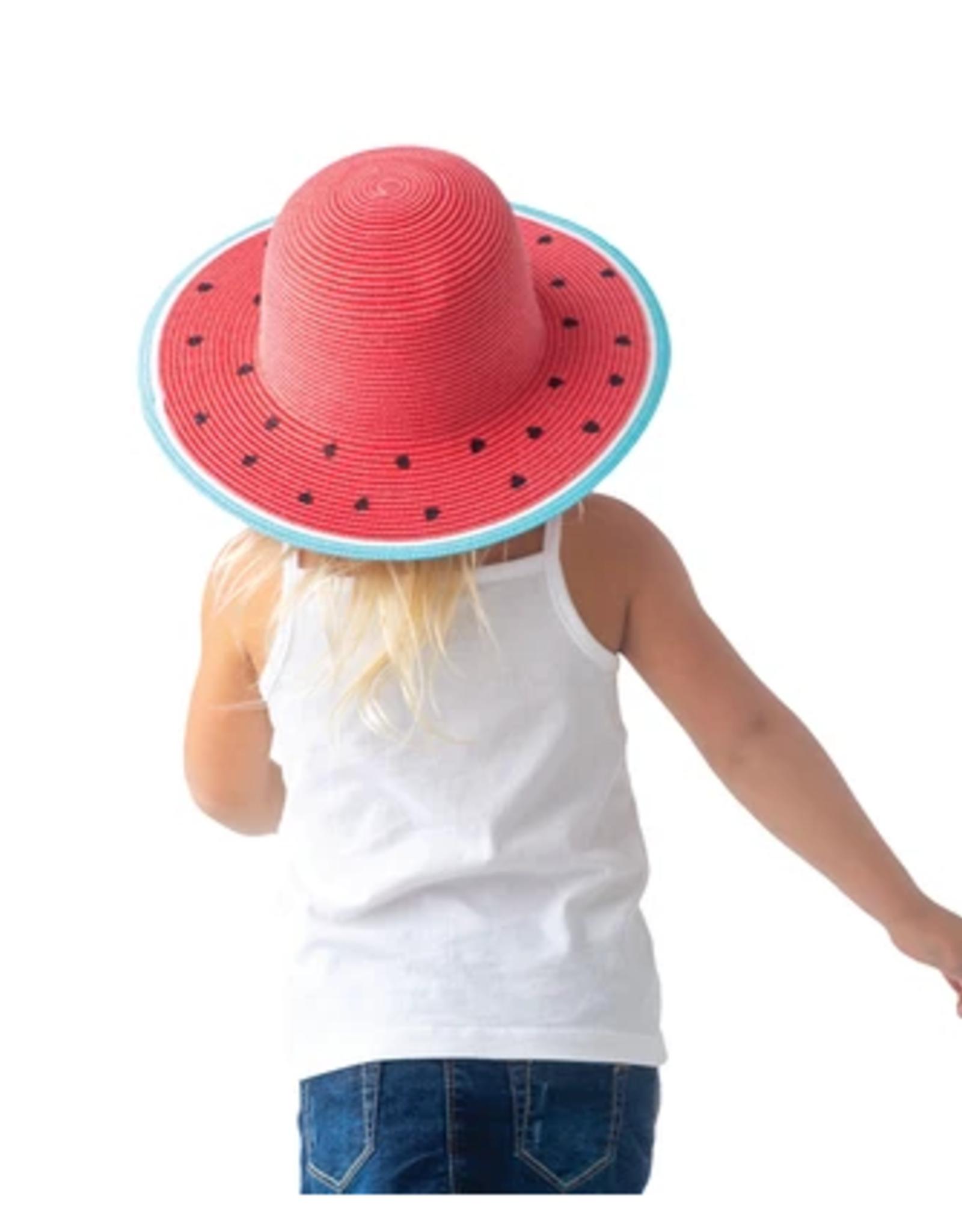 Flap Jacks FlapJackKids - Kids Straw Hat - Watermelon - Large