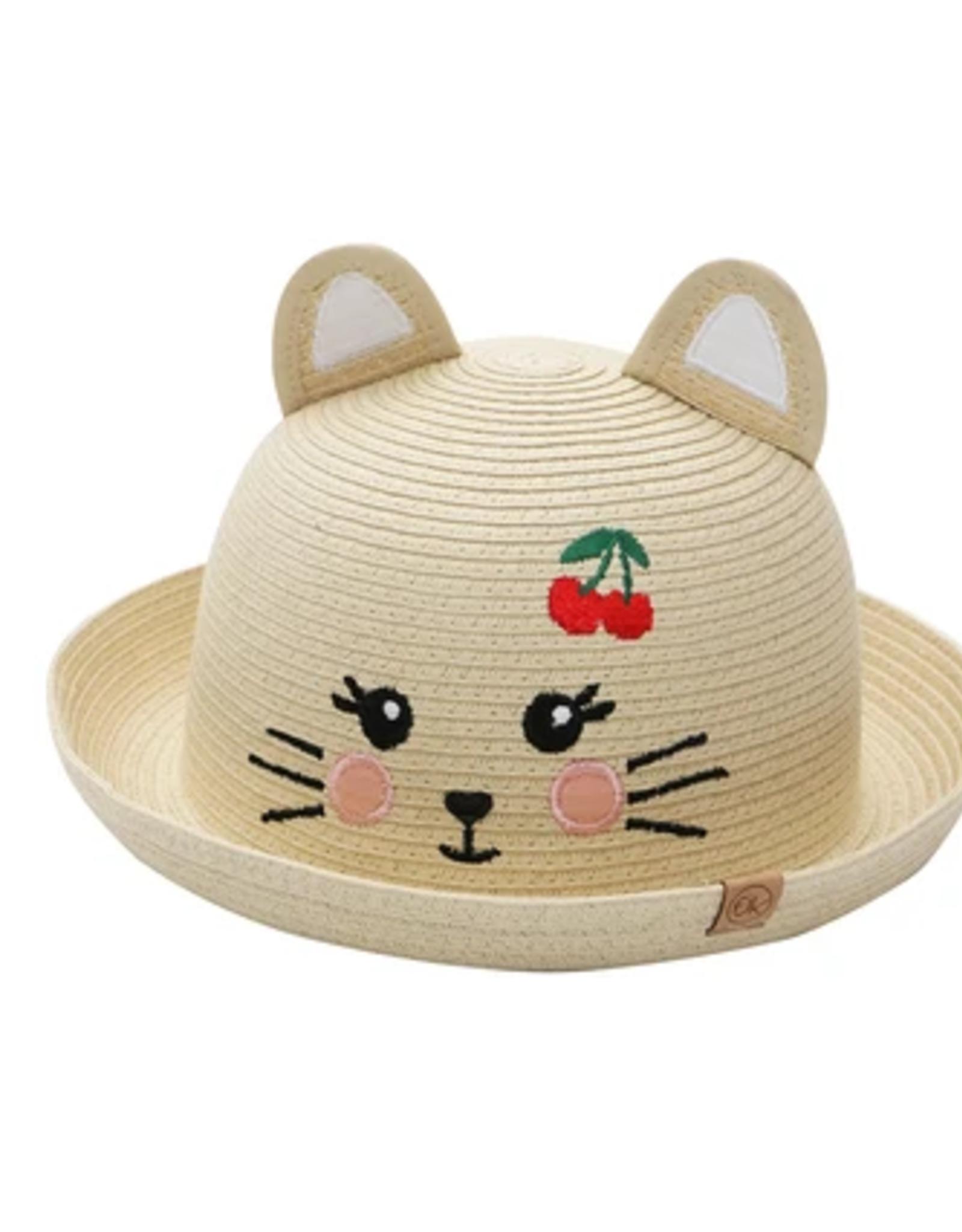 Flap Jacks FlapJackKids - Kids Straw Hat - Cat - Medium