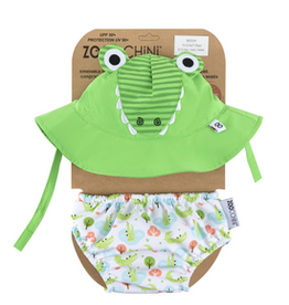 Zoocchini Zoocchini UPF50+ Swim Diaper & Sun Hat Set Alligator
