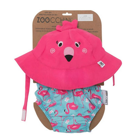 Zoocchini Zoocchini UPF50+ Swim Diaper & Sun Hat Set Flamingo